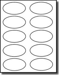 2 X 4 Label Template 10 Per Sheet Amazon Com 1 000 Label Outfitters White Oval Labels Or Stickers