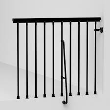 balcony rail kit metal steel and wood spiral staircase fontanot