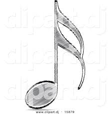 vector clipart of a sketched music note by andrei marincas 15879