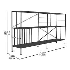 boutique new prairie horizontal bookcase 416985 sauder