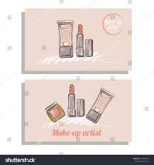 makeup artist business card vector template stock vector 383069734