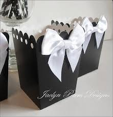 black tie party favors blackandwhite popcorn favorbox dessertbar by