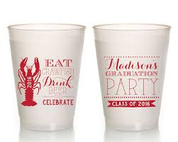 crawfish party supplies graduation party favors crawfish boil graduation party cups