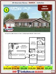 garrison house plans garrison all american modular home ranch collection plan price