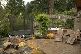 Patio Rocks Trampoline Ideas Patio Traditional With Rock Landscape Traditional