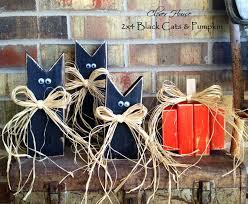 clover house 2 x 4 black cats u0026 pumpkin