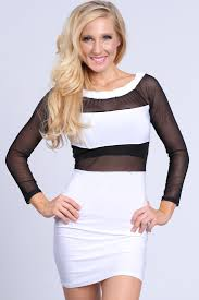 black mesh two tone party dress amiclubwear dresses