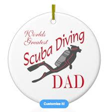 holiday gift ideas scuba diving ornaments scuba diving