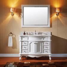 48 single sink vanity with backsplash virtu usa norhaven 48 inch single sink white vanity with italian