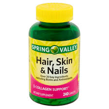 spring valley hair skin u0026 nails plus biotin dietary supplement