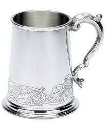 fancy celtic design fine english pewter tankard german beer mugs
