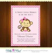 baby shower monkey pink girl monkey baby shower printable diy party