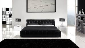 Black Leather Bedroom Furniture Ae B8221 Black Leather Bedroom Set King And Queen Bedroom Design