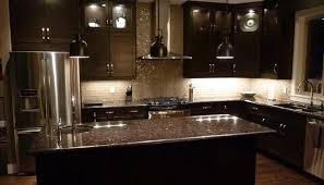 Dark Kitchen Cabinets With Light Countertops - kitchen with dark cabinets light countertops exitallergycom
