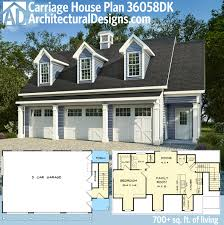 plan 36058dk 3 car carriage house plan with 3 dormers carriage