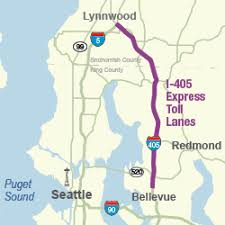 wsdot seattle traffic map i 405 express toll lanes between bellevue and lynnwood wsdot