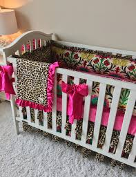 Bright Pink Crib Bedding by Fancy Damask Bedding Sets For Baby Pink Crib Set
