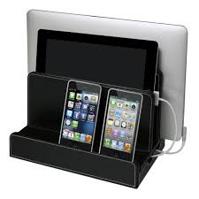 Device Charging Station Leatherette Multi Charger Station By G U S Shelving Com
