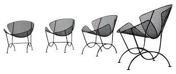 Salterini Patio Furniture Salterini Orange Slice Chairs Set Of 4