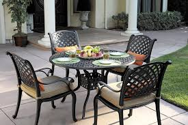 Aluminum Patio Dining Set Darlee Nassau Cast Aluminum 5 Dining Set With