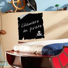 chambre de pirate sticker ardoise enfant carte de pirate décoration chambre de garçon