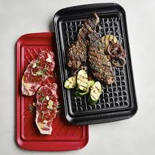 personalized grill platter grill prep trays set of 2 williams sonoma