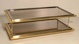 vintage italian glass u0026 brass coffee table 1970s for sale at pamono