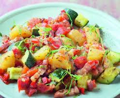 cuisiner courgettes poele poêlée de courgettes et pommes de terres recette de poêlée de