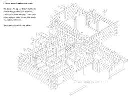 roanoke valley handcrafted log home floor plan