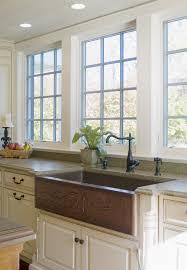 copper kitchen cabinets top mount copper farmhouse sink best sink decoration