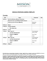 agenda meeting template example mughals