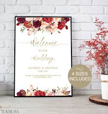 wedding welcome sign template gold wedding welcome sign template wedding reception greet guests