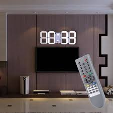 Home Decor Clocks Aliexpress Com Buy Jumbo Remote Control Large Led Digital Wall