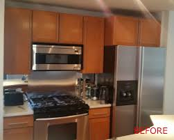 kitchen cabinet refinishing before and after spray painting yeo lab