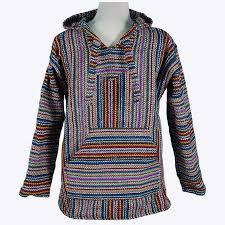 baja sweater made of recycled yarn 18 multi stripe baja hoodie mexicali