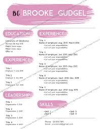 sorority resume template blush resume contact brookegudgel gmail sorority