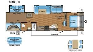 jayco eagle ht 314bhds travel trailer floor plan
