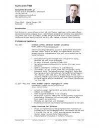 Example Of A Resume Profile by Cv Resumes Samples New Curriculum Vitae Format Free Samples Sample