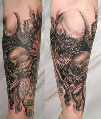 collection of 25 joker skeleton design on arm