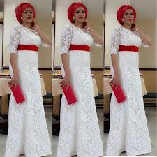 robe africaine mariage 2017 dentelle blanche robe de mariage nigeria aso ebi style du sud