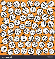 halloween pumpkins background halloween pumpkins background wrapping paper on stock vector