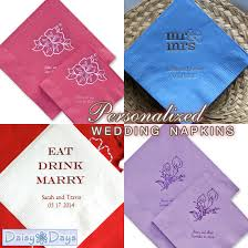 personalized wedding napkins personalized wedding napkins coasters and matches