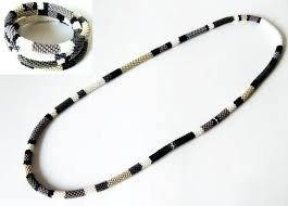 bead rope necklace images Crochet bead transformer necklace or bracelets colorful beaded jpg