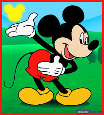 draw mickey mouse step step disney characters