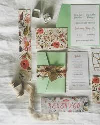 Mint Wedding Invitations Rustic Botanical Wedding Invitations Suite Boho Wedding