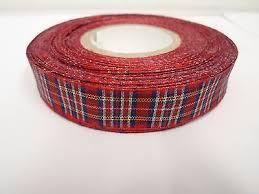 tartan ribbon royal stewart tartan ribbon 2 metres or 25 metres roll
