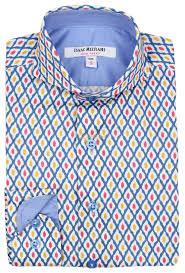 isaac mizrahi boys multicolored long sleeve dress shirt sh9314