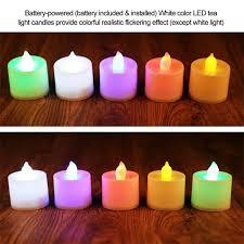 led tea lights battery life ttlife 24 pcs new flickering flicker light flameless led tealight