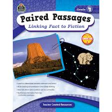 paired passages linking fact to fiction grade 4 tcr2914
