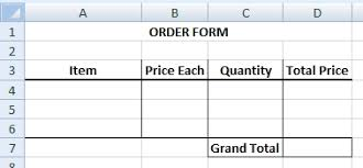 Excel Order Sheet Template How To Use Combo Box Form Excel Exle Com